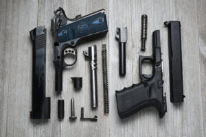 Parts of a 1911 vs parts in a Glock