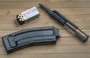 22LR AR-15 adapter on a picnic table