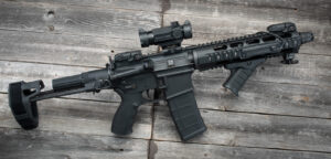 The 300 blackout pistol we used for testing