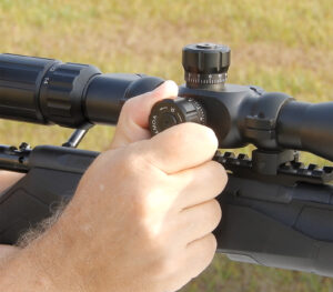 Adjusting your optic is part of sighting in your rifle