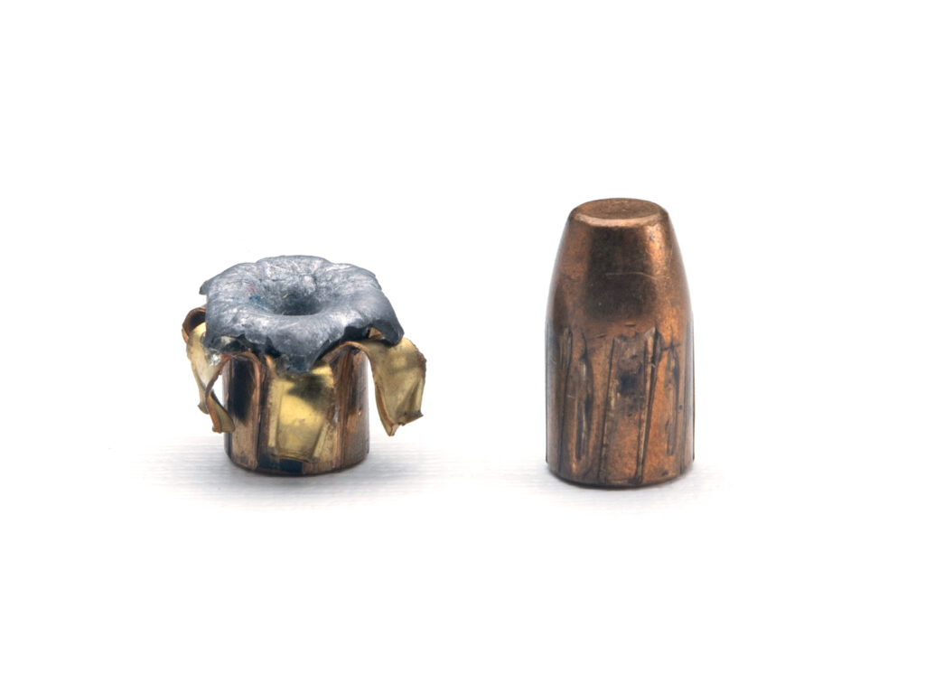 Hollow point vs fmj rounds when they hit the target