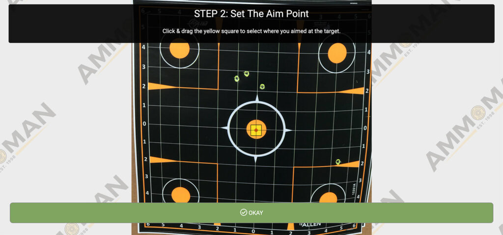 Set your aiming point