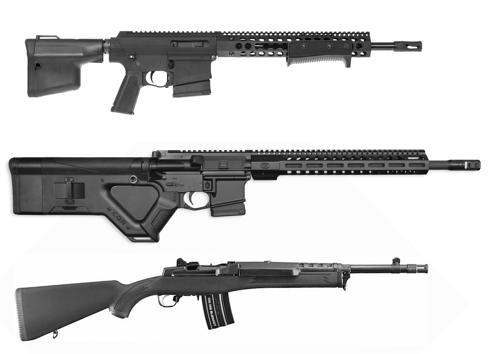 AWB Compliant AR-15 rifles