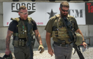 Armed citizens with body armor