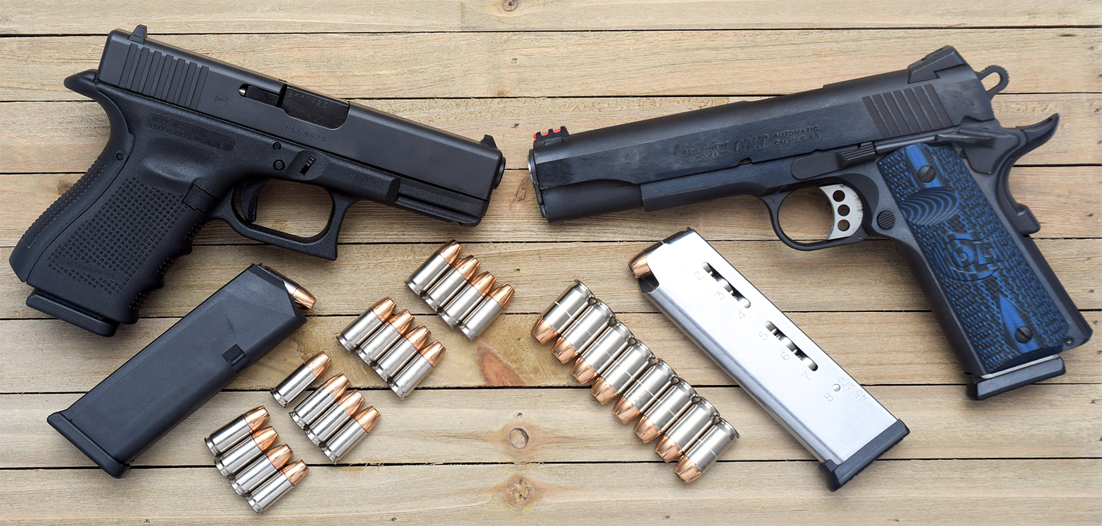 Rounds in a Glock vs Rounds in a 1911