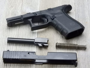 Cleaning your Glock 19 starts with disassembly