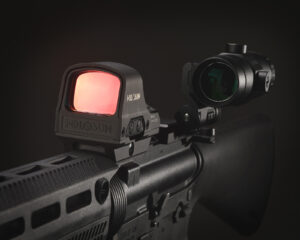 reflex sight and magnifier