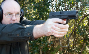 Walther Creed 3 pistol firing at the range