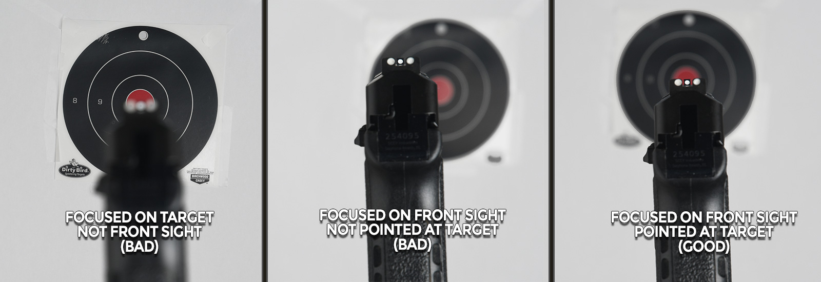 Sight Picture Issues with Aiming a Pistol
