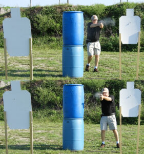 Shooting a stage USPSA style