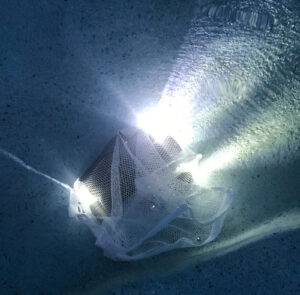 water testing tactical flashlights with a torch submerged underwater