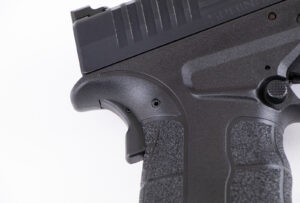 Springfield XD-S Grip Safety on the back side of the firearm's grip